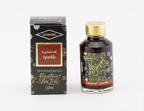 50ml Caramel Sparkle fountain pen ink