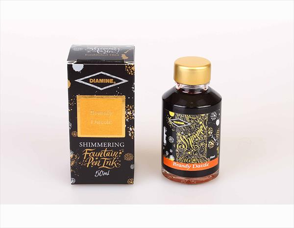 50ml Brandy Dazzle fountain pen ink